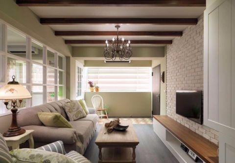 景泰翰林100平米田园风格二居室装修效果图