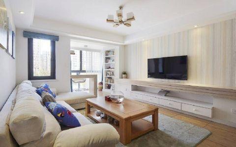 瑞丽园2期110平米简约风格二居室装修效果图