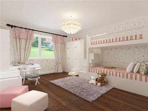 芳水园100平米简美风格二居室装修效果图