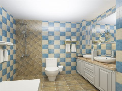 卫生间吊顶简约风格装潢效果图