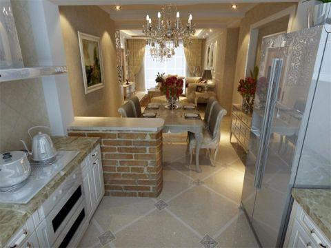 厨房吧台欧式风格装潢设计图片