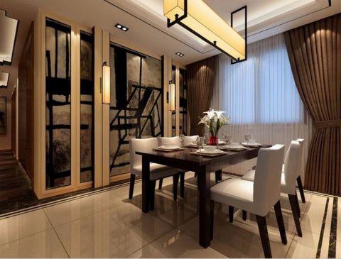 首创城三居室新中式风格效果图