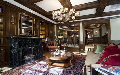 星河盛世160平米美式风格四居室装修效果图