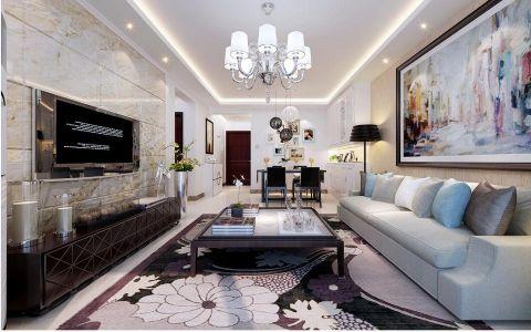 卓达上院二居室现代简约风格效果图