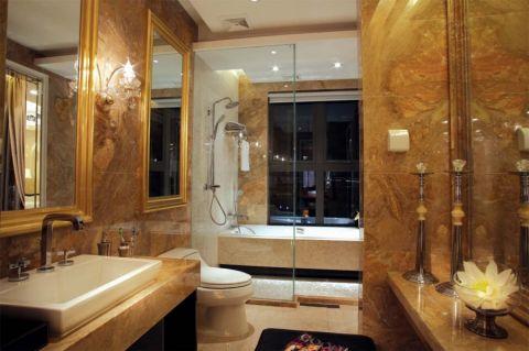 卫生间隔断现代简约风格装潢设计图片