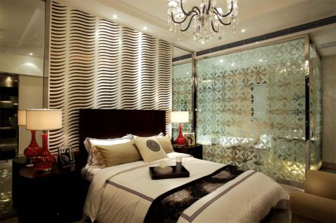 卧室隔断现代简约风格装饰效果图