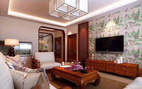 客厅吊顶东南亚风格装潢效果图