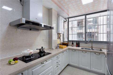 厨房吊顶简欧风格装潢效果图