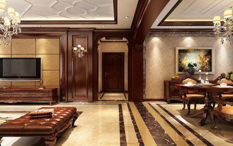 2021新古典90平米效果图 2021新古典二居室装修设计