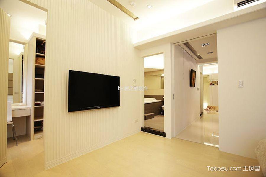 卧室黄色地板砖现代风格装潢设计图片