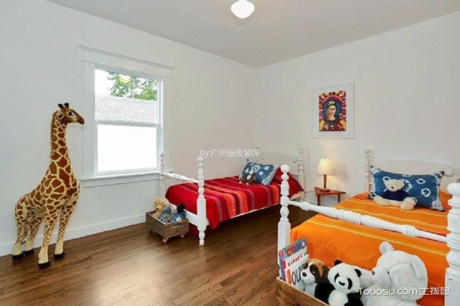 儿童房白色床北欧风格装修设计图片