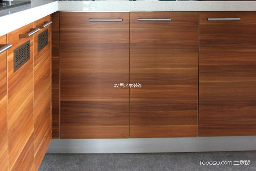厨房咖啡色橱柜日式风格装饰设计图片
