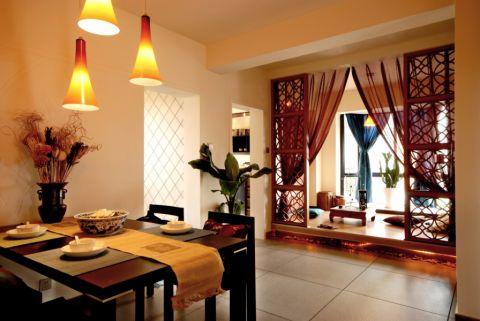 百家湖花园100平新中式家装效果图