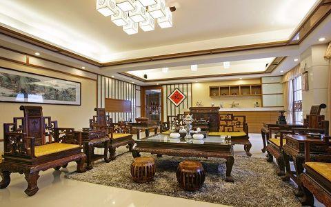 北京棕榈滩别墅新中式风格装修效果图