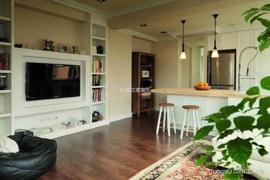 客厅红色地板砖田园风格装修设计图片