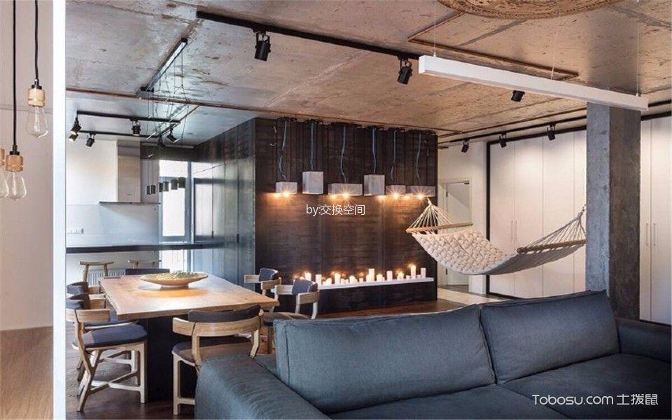 爱加欧郡三居室loft风格效果图