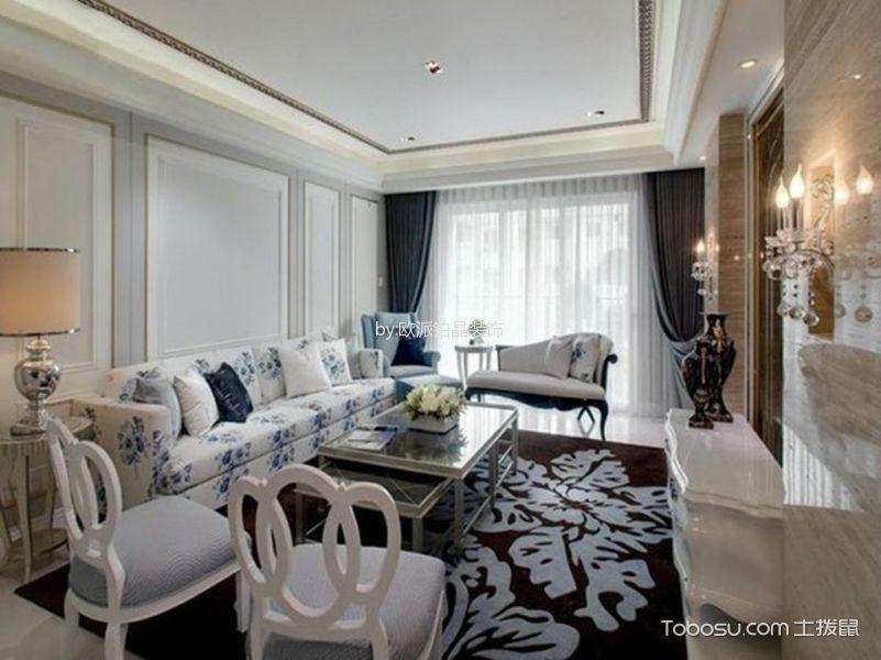 田园风格100平米3房2厅房子装饰效果图