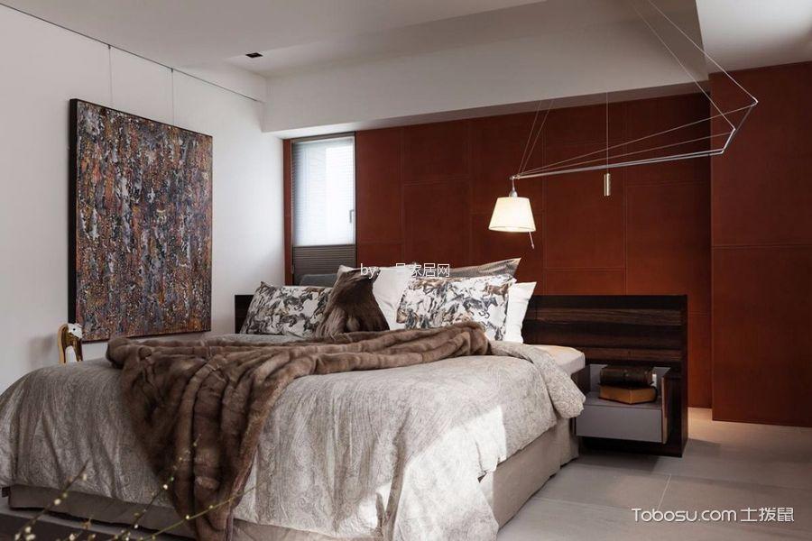 现代工业风格110平米三室两厅新房装修效果图