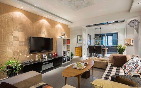 水岸星城两居室日式风格装修效果图