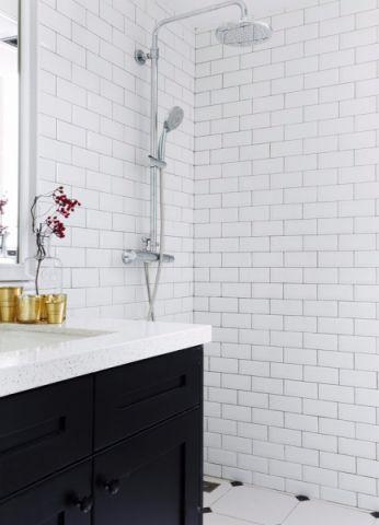 卫生间背景墙北欧风格装潢图片
