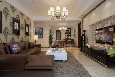 客厅吊顶简欧风格装饰效果图