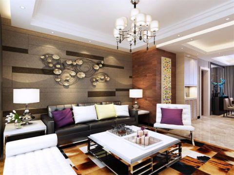 美的城三居室现代风格效果图