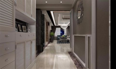 金山福地三居室现代风格效果图