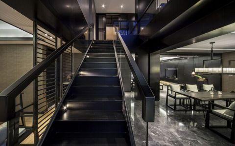 餐厅楼梯新中式风格效果图