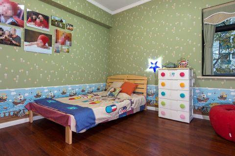 儿童房背景墙美式风格装饰效果图