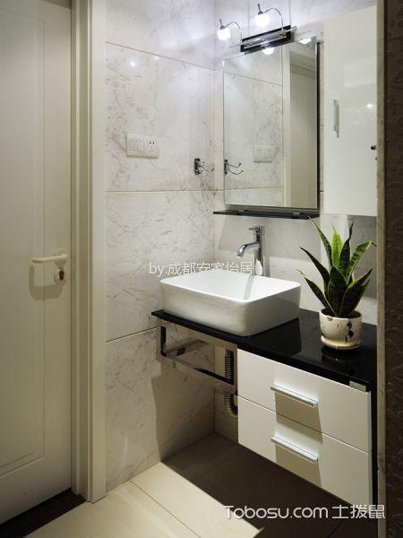 卫生间白色吧台现代简约风格装潢图片