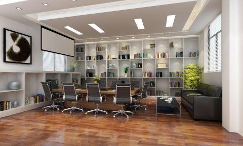 简约风格办公室工装装修效果图