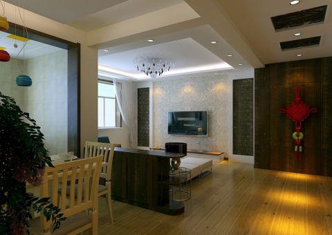 和润幸福城现代中式100平三居室装修效果图