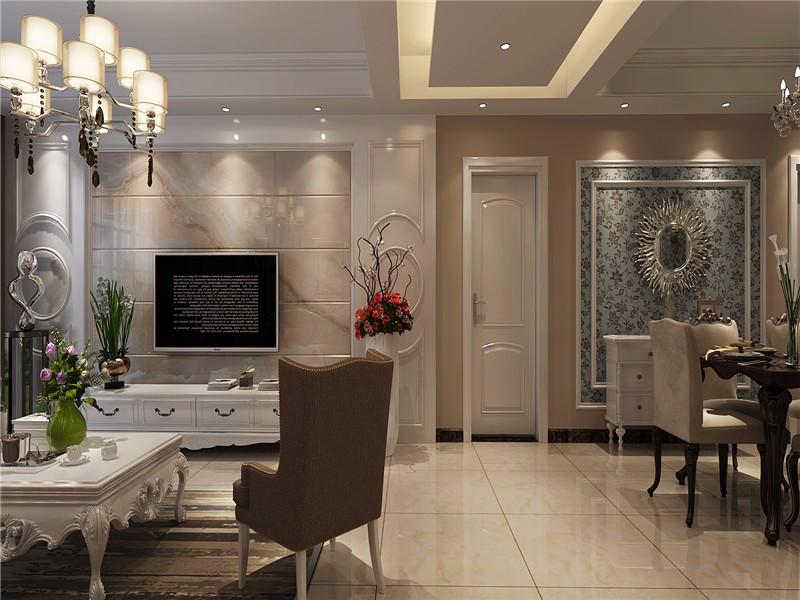3室1卫2厅102平米简欧风格