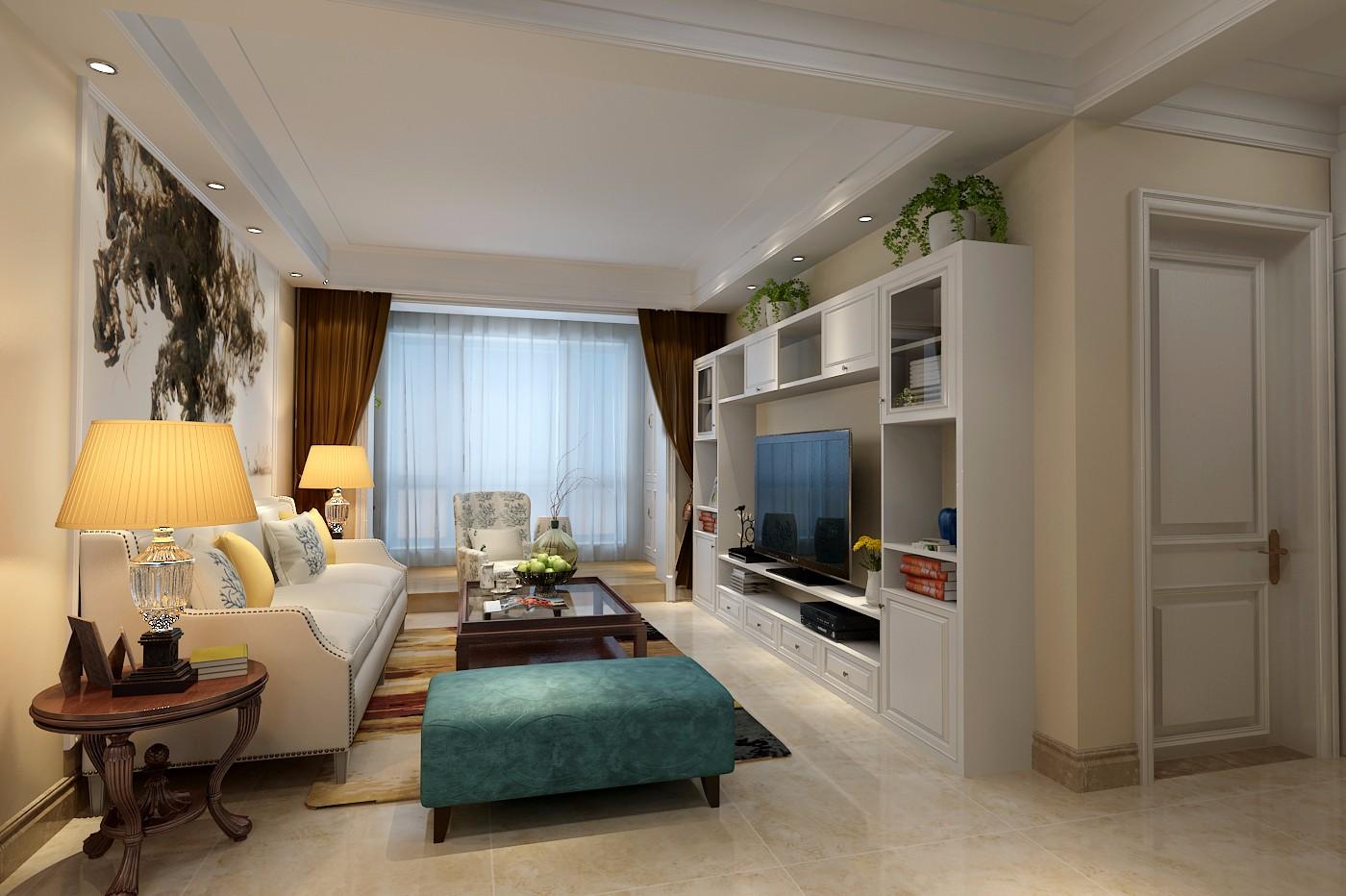 2室1卫2厅78平米美式风格