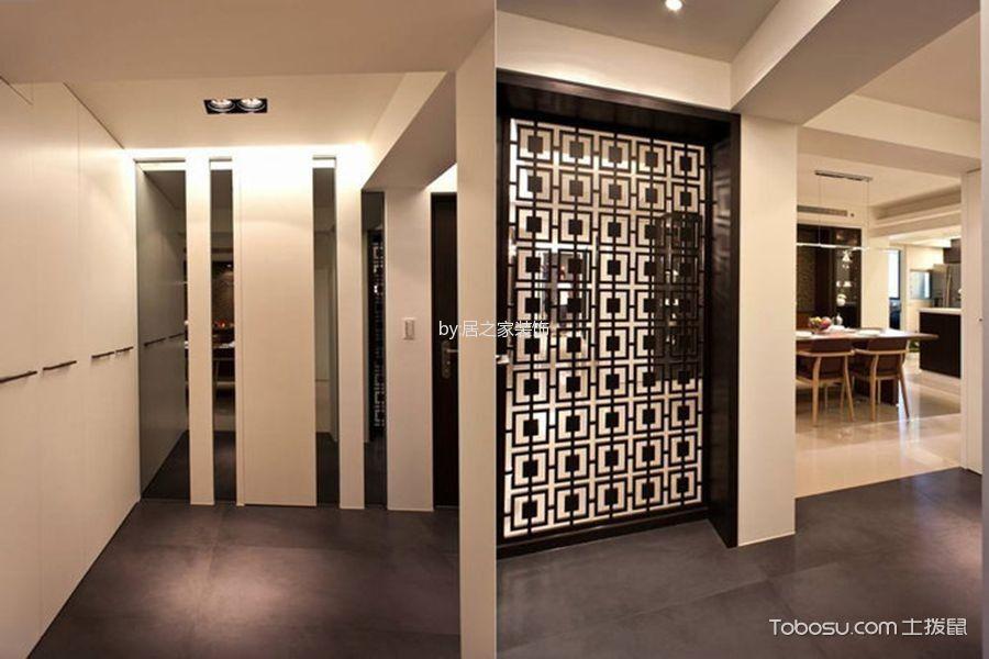 玄关灰色地砖现代简约风格装修效果图