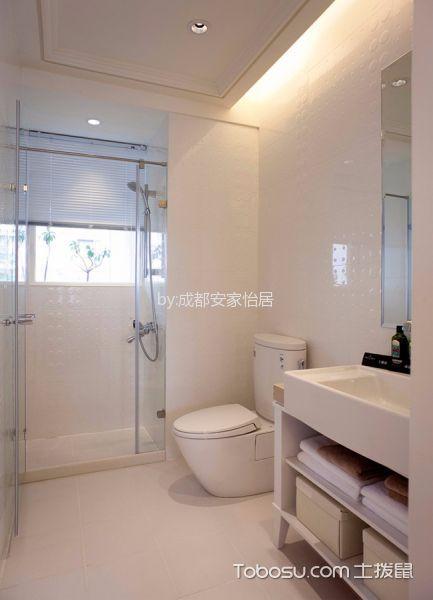 卫生间白色吧台现代简约风格装潢效果图