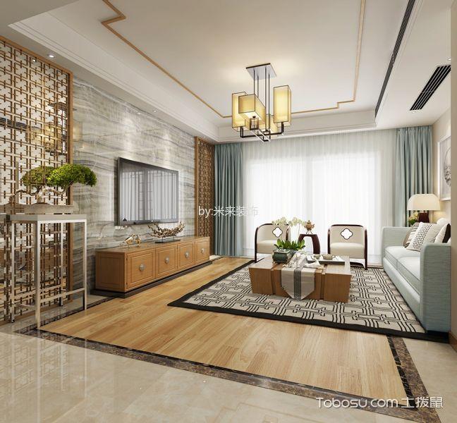 御山前新中式三居室效果图