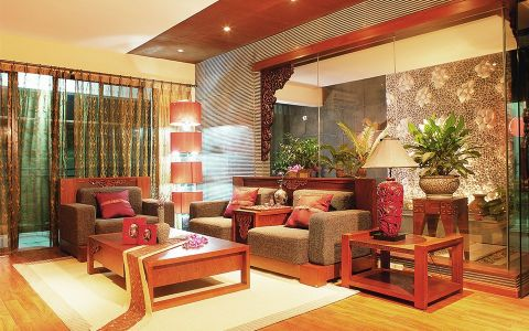 2019东南亚90平米效果图 2019东南亚一居室装饰设计