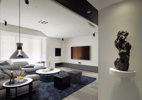 2019现代繁复110平米装修图片 2019现代繁复三居室装修设计图片