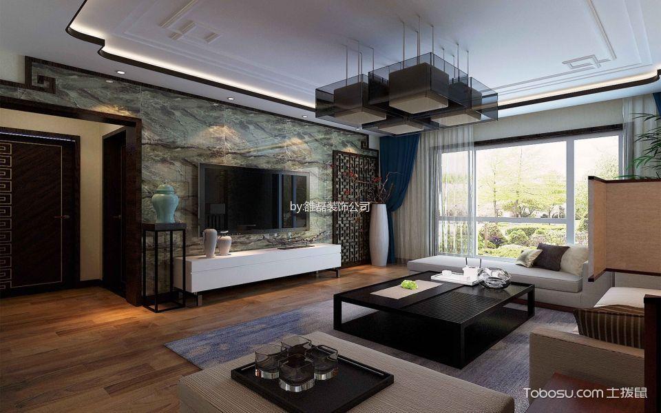 东胜紫御府3室两厅130平中式风格效果图