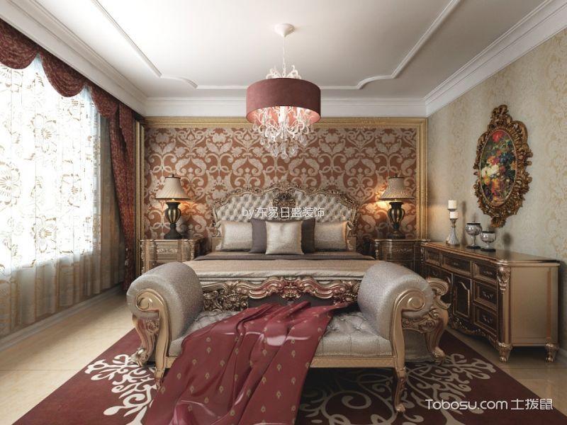 卧室白色吊顶欧式风格装饰效果图_土拨鼠装修效果图图片