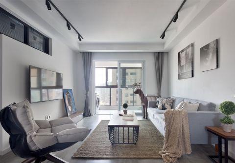 2021现代简约110平米装修图片 2021现代简约二居室装修设计