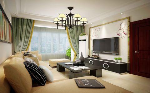 东胜紫御府二室一厅现代简约效果图