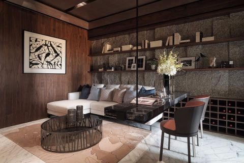 万科璞悦湾131现代二居室效果图