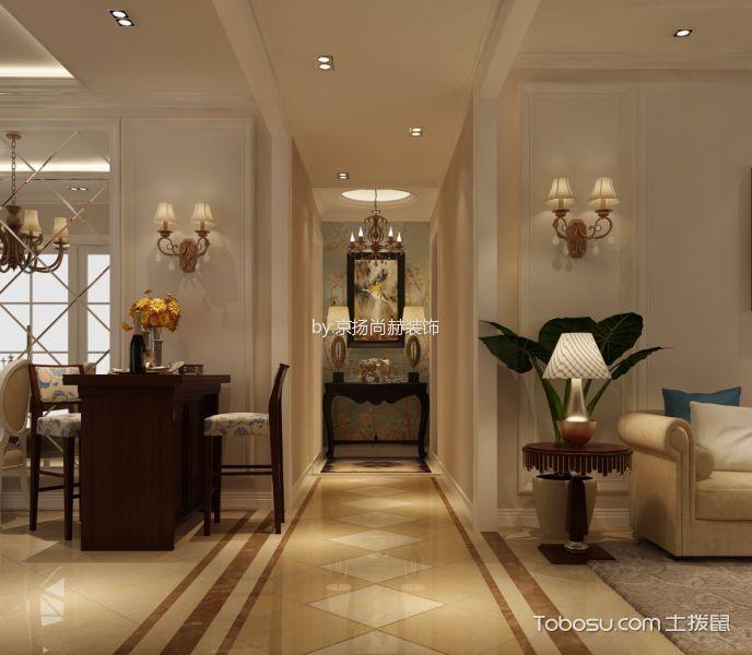 鲁能7号院四居室美式风格效果图