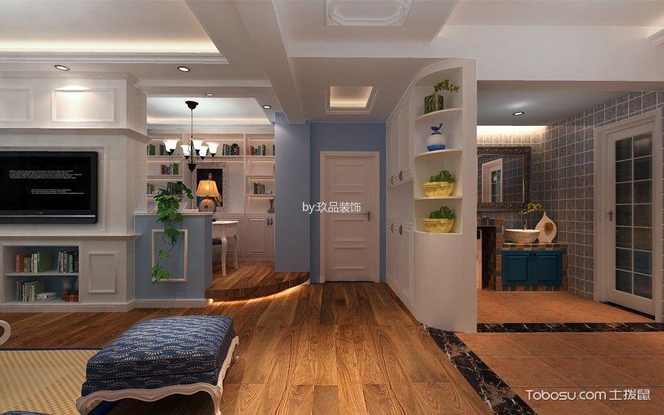 客厅咖啡色地板砖地中海风格装饰图片