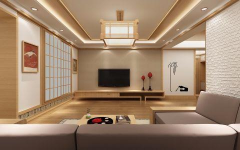 新长江香榭湾两居室日式装修效果图