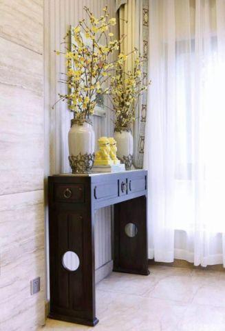 玄关窗帘混搭风格装饰图片