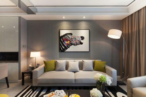 碧桂园90平现代简约风格两居室装修效果图