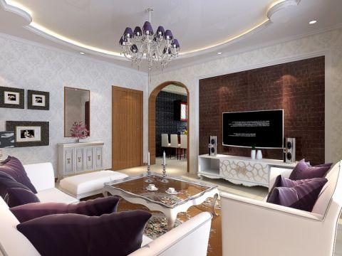 博雅书苑108平米混搭风格装修设计效果图